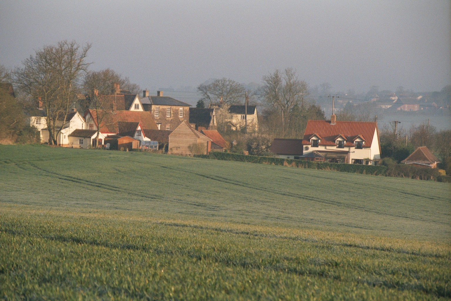 Wickhambrook Village scene