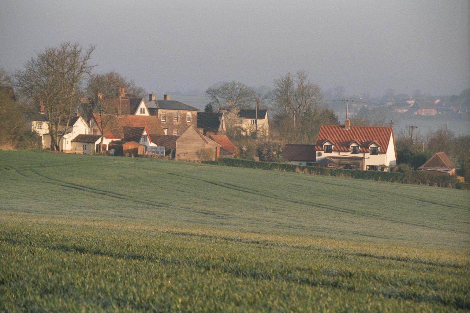 Wickhambrook Village scene