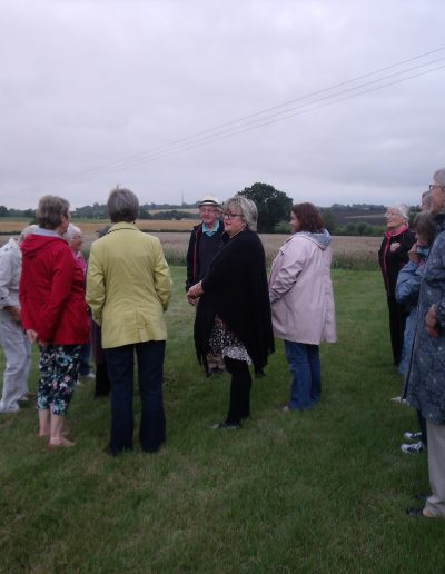 W.I. Philip explains about the woods and landscape around farm