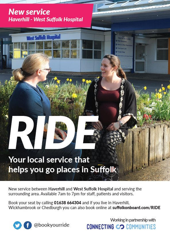 Haverhill to West Suffolk Hospital Bus Poster
