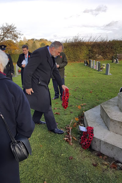 Remembrance day at Wickhambrook 2017