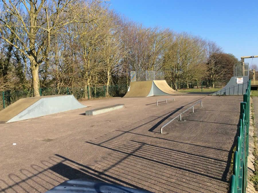 Wickhambrook Skatepark area